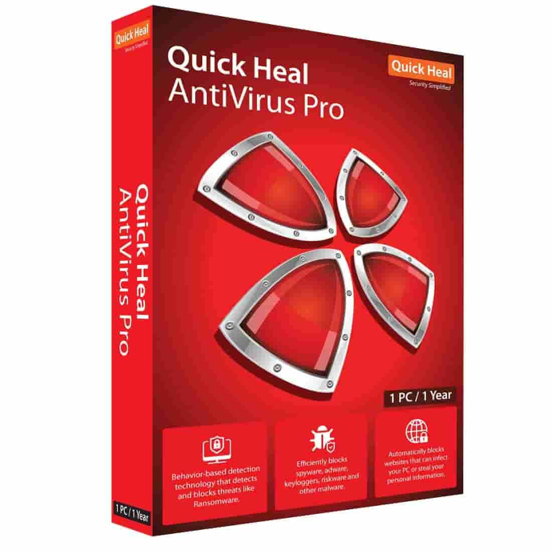 quick-heal-antivirus pro 1pc 1 year